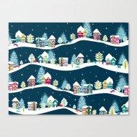 ski Canvas Prints featuring Apres Ski by Polkip