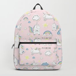 Unicorn - light pink Backpack