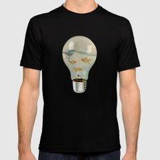 ideas and goldfish 03 2X-LARGE Mens Fitted Tee Black