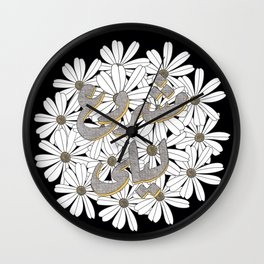 Mashrou' Leila Band Floral Logo Wall Clock