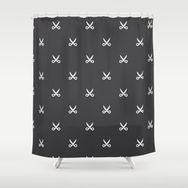 Scissors pattern Shower Curtain