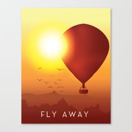 Fly Away on a Balloon Canvas Print