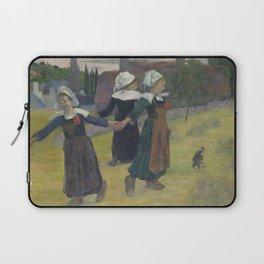 Paul Gauguin - Breton Girls Dancing, Pont-Aven Laptop Sleeve