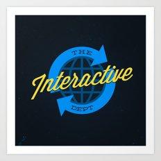 The Interactive Department Art Print