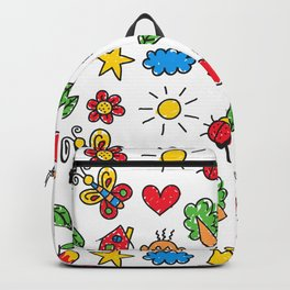 Childish drawings Backpack