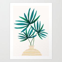 Tropical Palm Bouquet Art Print