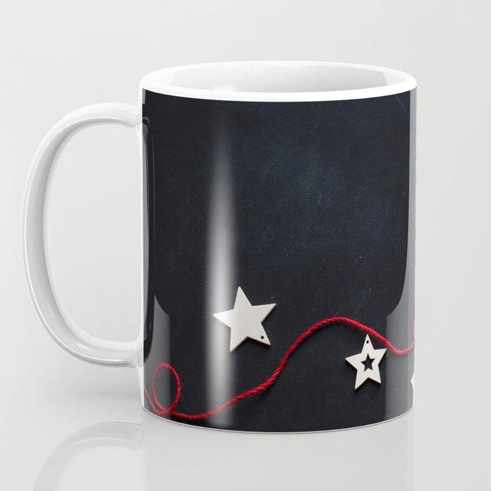 Stars on a Red Rope (Color) Coffee Mug