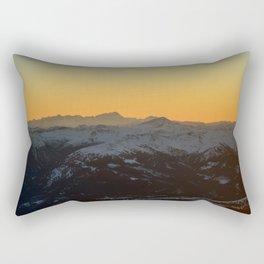 Glow behind the Alps Rectangular Pillow