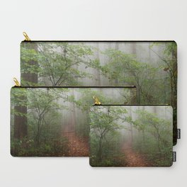 Adventure Ahead - Foggy Forest Digital Nature Photography Carry-All Pouch