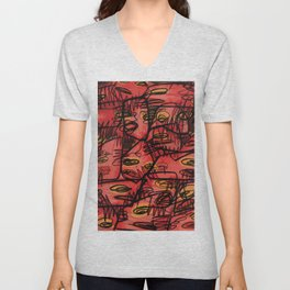 *ABSTRACT_A Unisex V-Neck