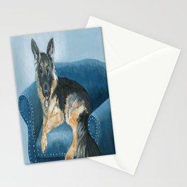 German Shepherd Angus Stationery Cards