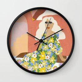 Night in Desert Wall Clock