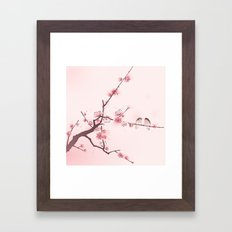 Oriental cherry blossom in spring 005 Framed Art Print