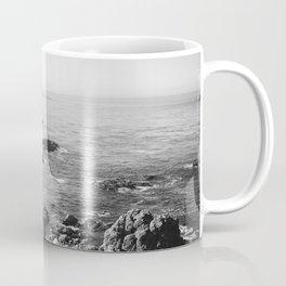 Black and White Monterey coast Coffee Mug