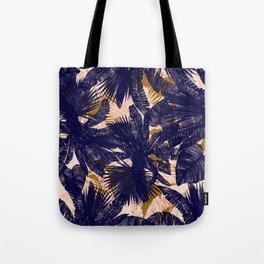 INDIGO PALM PATTERN Tote Bag