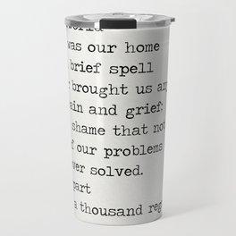 Omar Khayyám quote d Travel Mug