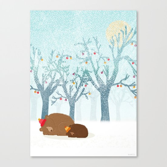 Sleeping winter Canvas Print