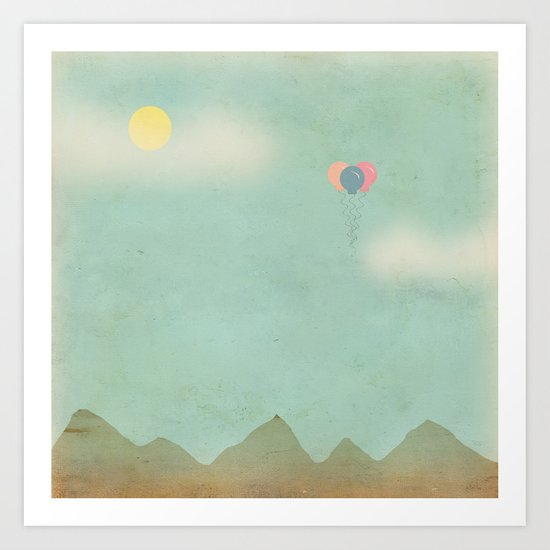Over the Mountains Art Print