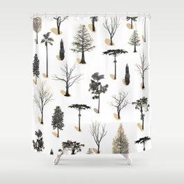 tree shadows Shower Curtain