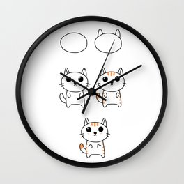 How to Draw a Realistic Cat Wall Clock