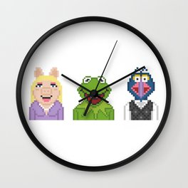 Kermit Miss Piggy And Gonzo The Muppets Pixel Wall Clock