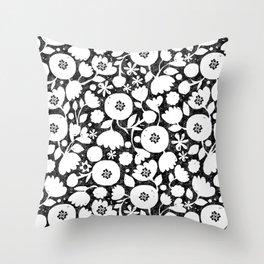 clear cut flowers Throw Pillow