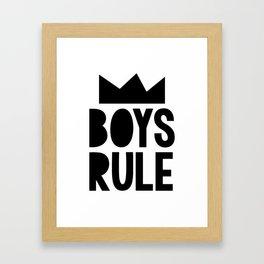 Boys Rule Framed Art Print