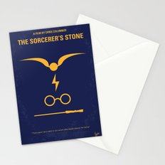 No101-1 My HP - SORCERERS STONE minimal movie poster Stationery Cards