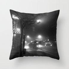 A Streetcar Named Noir Throw Pillow