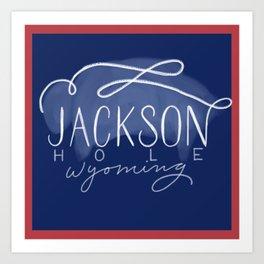 Jackson Hole Buffalo Flag Art Print