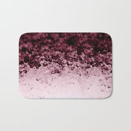 Burgundy CrYSTALS Ombre Gradient Bath Mat