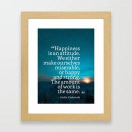 Ispirational Sports Quotes — Carlos Castaneda Framed Art Print