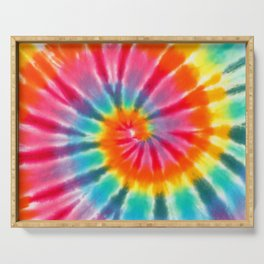 tye dye 6 Serving Tray
