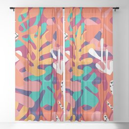 Matisse Pattern 006 Sheer Curtain