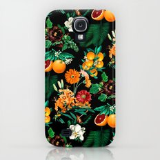 Fruit and Floral Pattern Galaxy S4 Slim Case