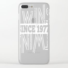 Twins-Since-1977---40th-Birthday-Gifts Clear iPhone Case