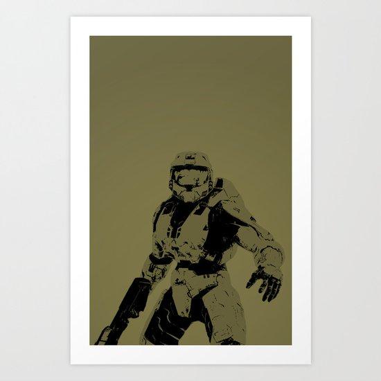Master Chief Art Print