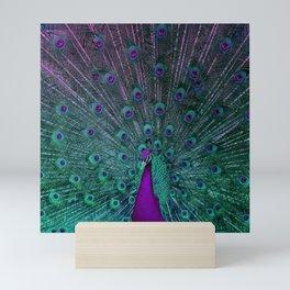 BLOOMING PEACOCK Mini Art Print