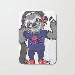 Skater Sloth Bath Mat
