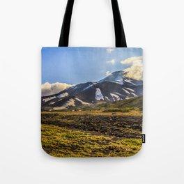 Looking at a Volcano Tote Bag
