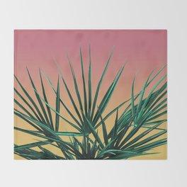 Vaporwave Palm Life - Miami Sunset Throw Blanket