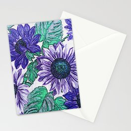 Large Purple Flowers Stationery Cards