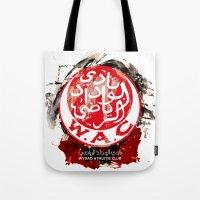 casablanca Tote Bags featuring WAC Wydad Casablanca by Genco Demirer