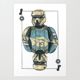 Shore trooper Art Print
