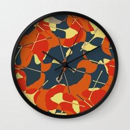 Autumn Gold Wall Clock