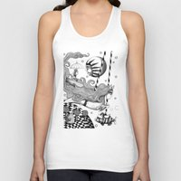 jazzberry Tank Tops featuring East of Blue Lake by Judith Clay