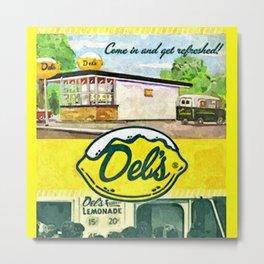 Vintage Del's Lemonade Rhode Island Vintage Advertising Poster Metal Print