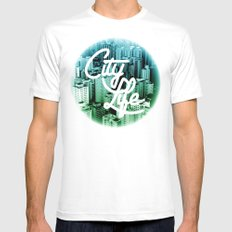 CityLife Mens Fitted Tee SMALL White
