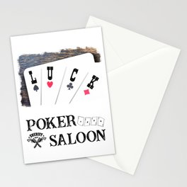 Welcome to the Poker Saloon Stationery Cards