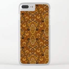 Golden Glow Paisely Clear iPhone Case